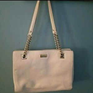 AUTH KATE SPADE CREAM SOFT LEATHER HANDBAG VGUC